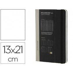 Libreta Moleskine profesional negro 13x21 cm