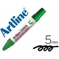 Rotulador para pizarra Artline verde punta redonda 5 mm