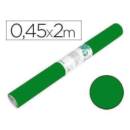 Papel autoadhesivo verde brillo ante Liderpapel