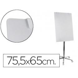Pizarra Blanca Vitrificada Magnetica Móvil con ruedas 75,5x65 Bi-Office