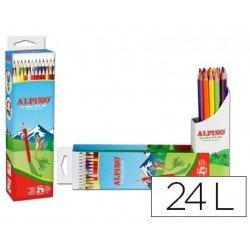 Estuche Lapices Alpino de 24 colores surtidos de madera