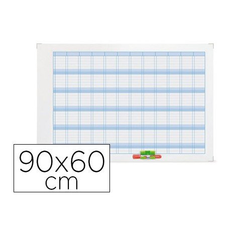Planning Anual Rotulable Magnético 90x60 Nobo