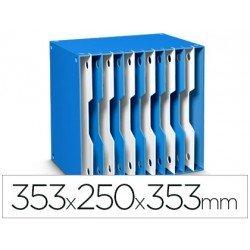 Archivador modular Cep poliestireno 12 casillas azul/blanco 353x250x353 mm