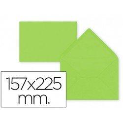 Sobre color Liderpapel engomado lima 80g/m2