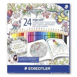 Lapices de colores Staedtler Ergo Soft edición Johanna Basford 24 unidades
