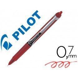 Boligrafo Pilot V-7 retractil 0,5 mm Rojo