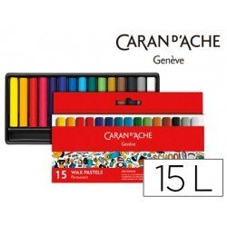Lapices cera Caran D´Ache caja de 15 colores