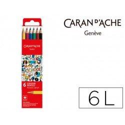 Lapices acuarelable Caran D´ache caja 6 Colores