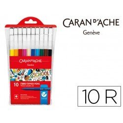 Rotulador acuarelable Caran D'ache 10 colores