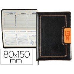 Agenda 2017 Liderpapel Dorios Semana Vista 8x15 cm Negro y Naranja