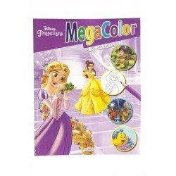 Colorear Princesas Disney. Cuaderno con Pegatinas Megacolor