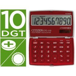 Calculadora Bolsillo Citizen Modelo CTC-110B 10 digitos