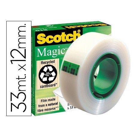 Cinta adhesiva invisible Scotch 33 mt x 12 mm