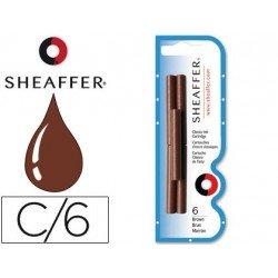Cartuchos de tinta Sheaffer Classic marron