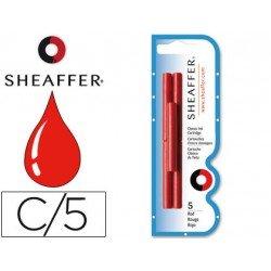 Cartuchos de tinta Sheaffer Classic rojo