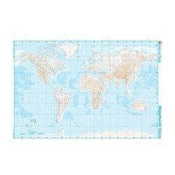 Mapa mudo b/n planisferio