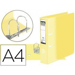 Archivador de palanca Elba carton forrado din A4 amarillo