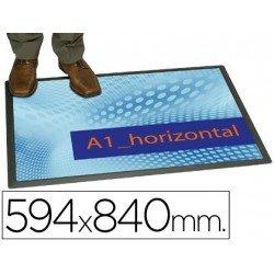 Alfombra para suelo planning Sisplamo transparente con funda personalizable 59,4x84cm