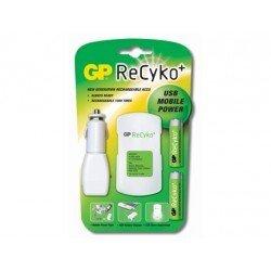 Cargador de pilas Recyko movil power 2-2,5horas y pack con 2 pilas AA Recyko