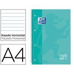 Bloc Oxford Din A4 tapa extradura microperforado Book1 rayado Verde menta