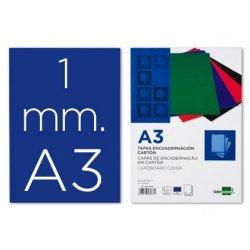 Tapa de Encuadernacion Carton Liderpapel A3 Azul 1mm
