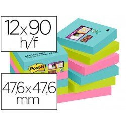 Bloc Quita y Pon Post-It ® Super Sticky 47,6X47,6 mm Miami