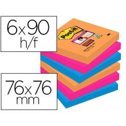 Bloc Quita y Pon Post-It ® Super Sticky 76X76 mm Bangkok