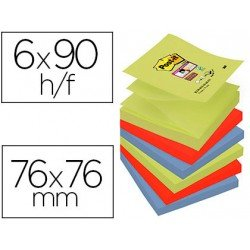 Bloc Quita y Pon Post-It ® Super Sticky Z-Notes 76X76 mm Marrakesh
