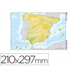 Mapa mudo España fisico