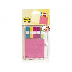 Blister Post-it ® 3m 673-tg2 organizador de agenda con notas neon + index