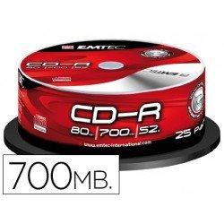 CR-R Emtec 700mb 80min velocidad 52X 25 unidades