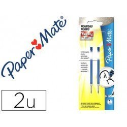 Recambios boligrafo Paper Mate Replay Premium Azul Tinta Gel 2 unidades