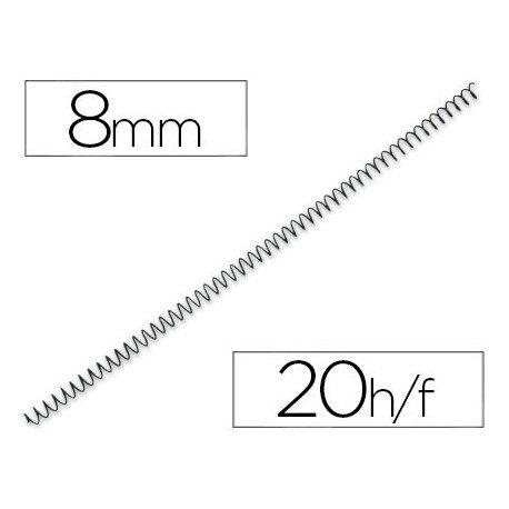 Espiral metalico fellowes 56 negro 8 mm pack 25 espirales
