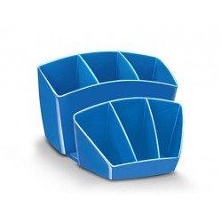 Organizador sobremesa CEP 143x158x93 mm 8 Compartimentos Plástico Azul