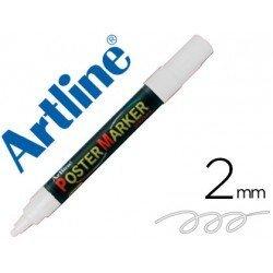 Rotulador Artline Poster Marker EPP-4 Punta Redonda Trazo 2mm Blanco