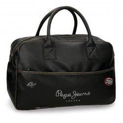 Bolsa viaje 32x50x19 cm Piel Sintética Pepe Jeans Duetone Negra