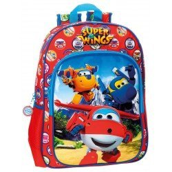 Mochila Super Wings Mountain Microfibra 29x38x12 cm Roja