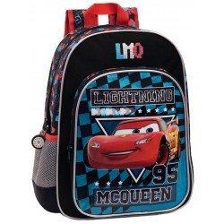 Mochila Cars McQueen Microfibra 29x38x14 cm Negra