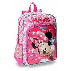 Mochila Minnie Mouse Fabulous Microfibra 29x38x12 cm Rosa
