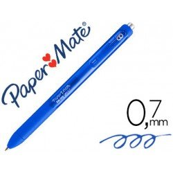 Boligrafo Paper Mate Inkjoy Retractil Gel 0,7 mm Color Azul