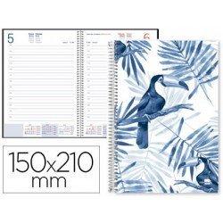 Agenda 2018 Cahnia Dia pagina 150x210 mm Blanca Liderpapel