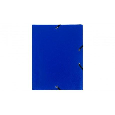 Carpeta con gomas Exacompta 3 solapas DIN A4 Polipropileno Azul