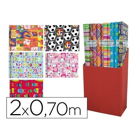 Papel fantasia infantil Marvel Rollo de 2X0, 70 mt
