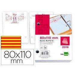 BLOC BUFETE LIDERPAPEL 80X110 MM 2018 PAPEL 80 GR TEXTO EN CATALAN