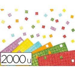 Plancha Adhesiva mosaico foam con Purpurina colores surtidos 1x1 cm itKrea