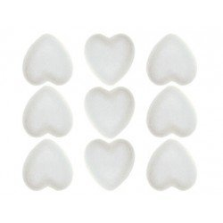 Corazones de Porexpan 40 mm color blanco itKrea