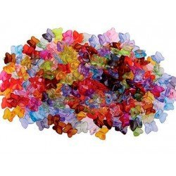 Cuentas de plástico Mini mariposa 9 mm Colores surtidos marka itKrea