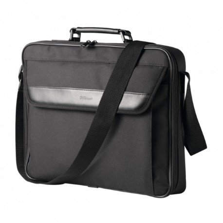 "MALETIN PARA PORTATIL TRUST ATLANTA CARRY BAG 16"" BOLSILLO EXTERIOR CORREA Y DOBLE CREMALLERA COLOR NEGRO"