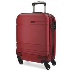 Maleta de cabina 55x40x20 cm Rigida con 4 ruedas Movom Matrix roja con bolsillo frontal