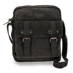 Bandolera Porta Tablet Pepe Jeans 27x23x6 cm en Lona Horse Negra